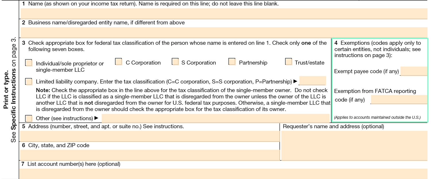w9 tax form box 4