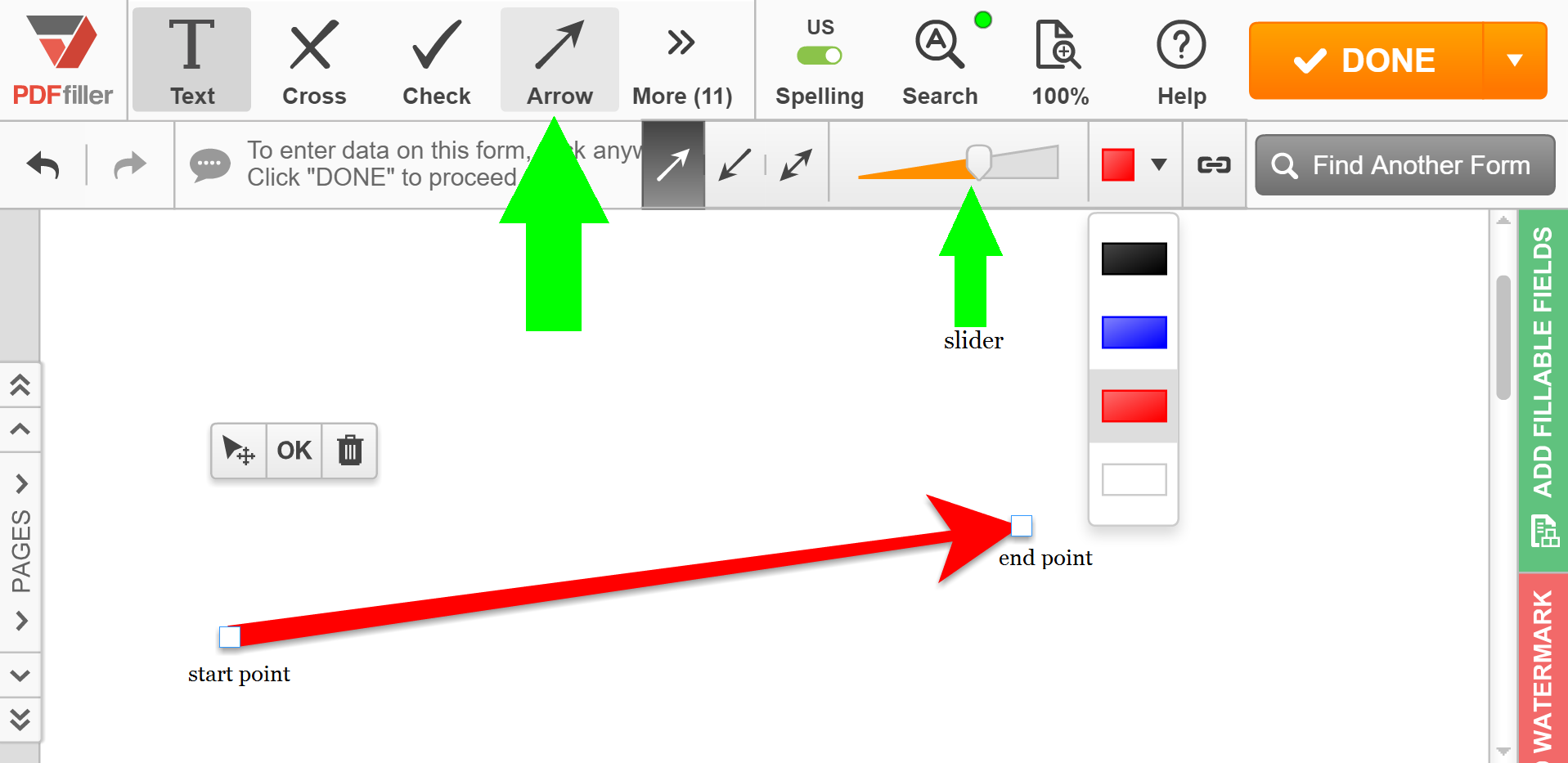 Draw Arrows In PDF. Search, Edit, Fill, Sign, Fax & Save ...
