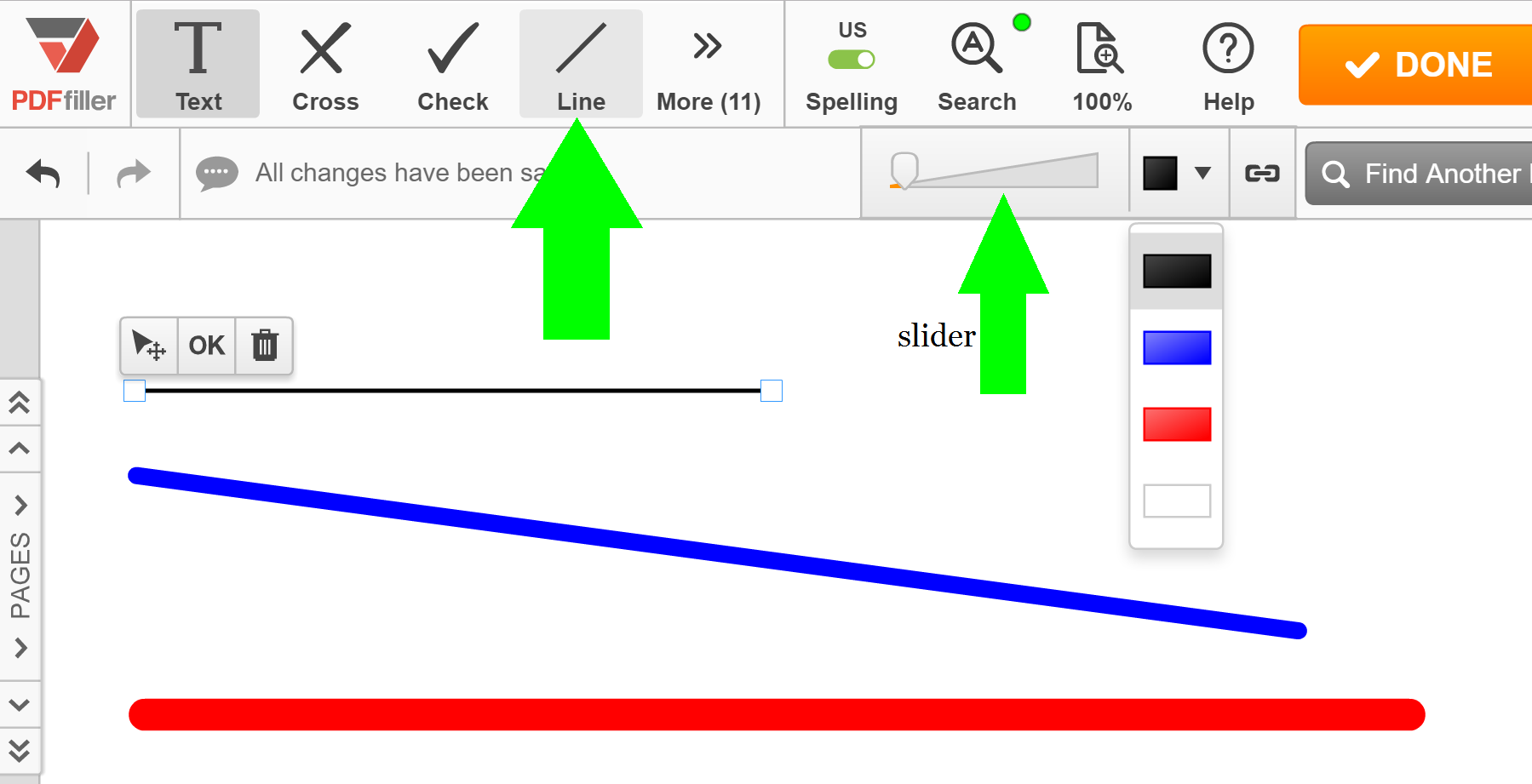 Line Drawing Editor : Draw line in pdf search edit fill sign fax save