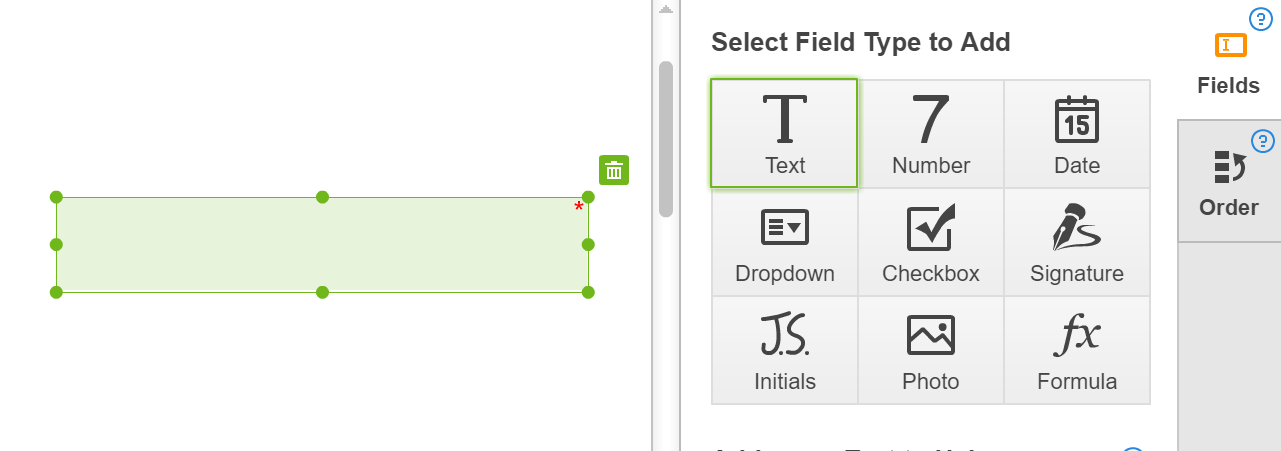 Make any field fillable