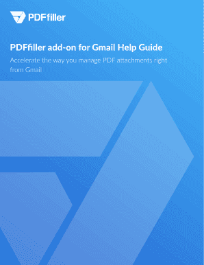 PDFfiller for Gmail Help Guide