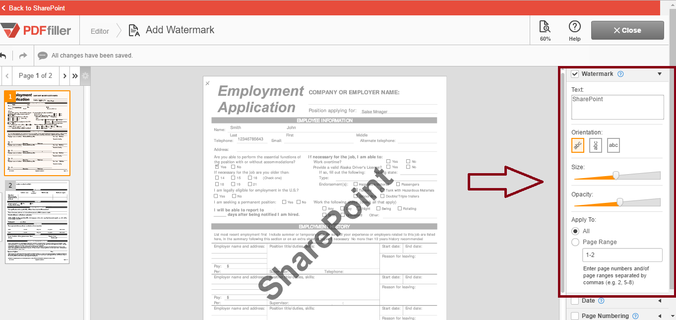 PDFfiller for integration with SharePoint