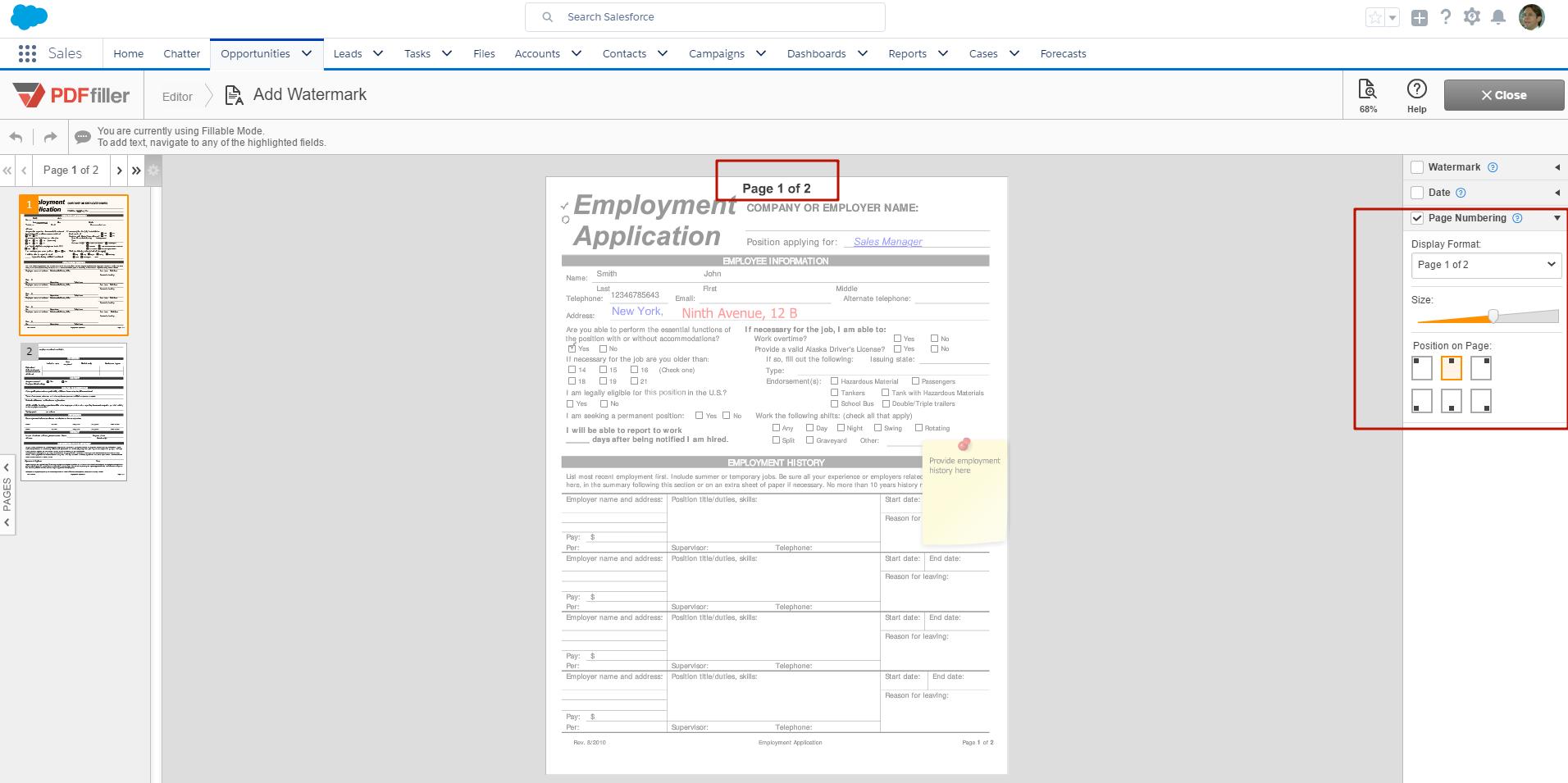 DaDaDocs for integration with Salesforce