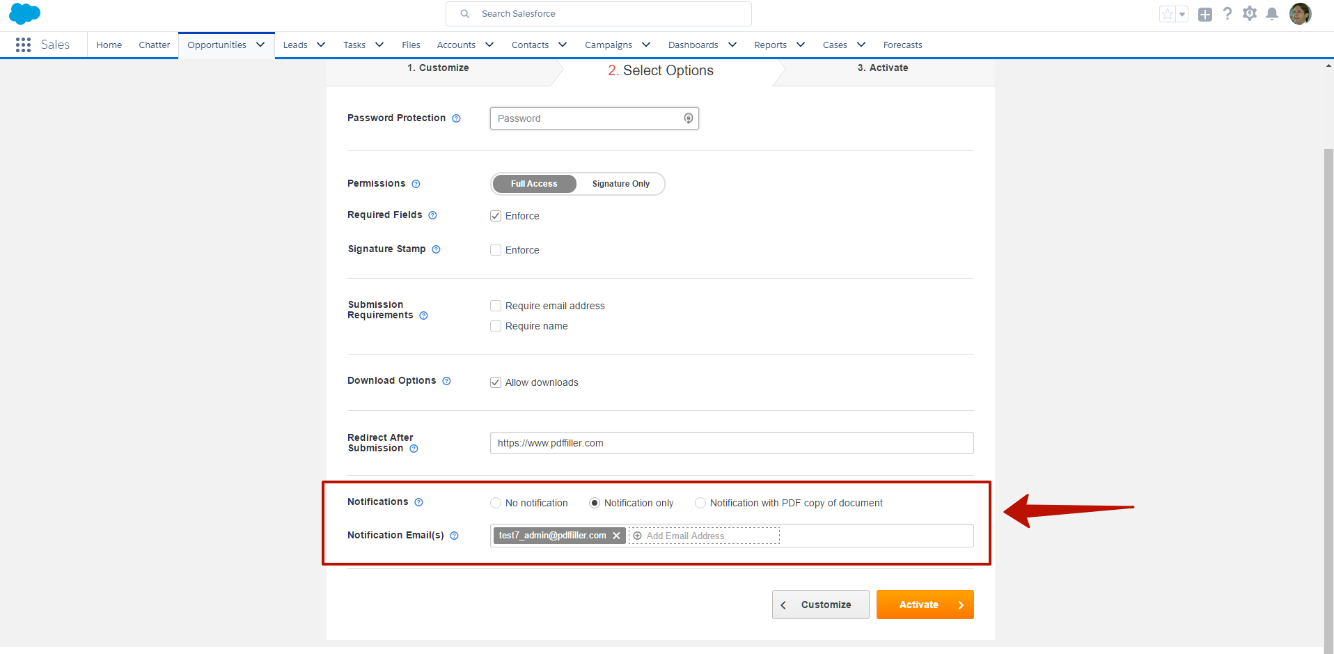DaDaDocs for integration with Salesforce