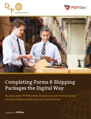 Completing forms and Shipping Packages the Digital Way
